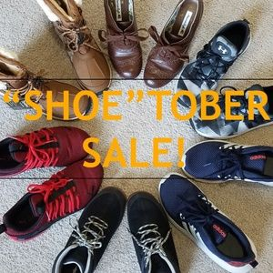 """SHOE""TOBER SALE!! ALL SHOES 20% OFF"
